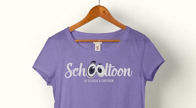 Maglietta donna viola con logo Schooltoon