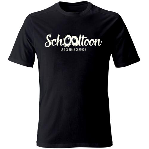 T-Shirt logo bianco, colore nero